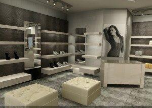 Дизайн интерьера бутика модной одежды «Антре»