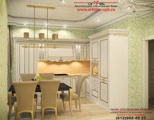 Элитный дизайн интерьера квартиры в ЖК «Никитинская усадьба»