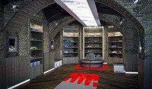 Дизайн интерьера бутика New Balance в СПб