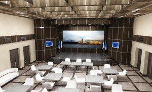 Дизайн интерьера актового зала в администрации СПб