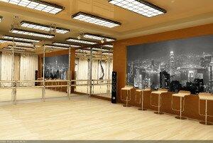 Дизайн интерьера студии танцев
