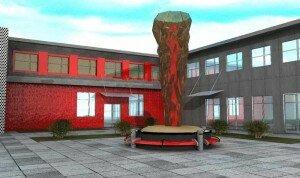 Проект фасада здания молодежного клуба Факел