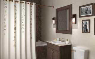 Как правильно повесить штору в ванной