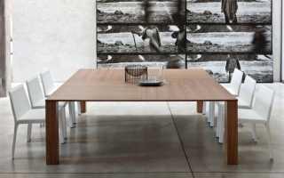 Деревянные круглые столы в интерьере