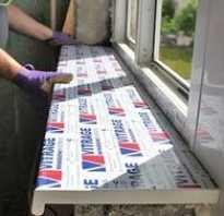 Как закрепить подоконник к пластиковому окну